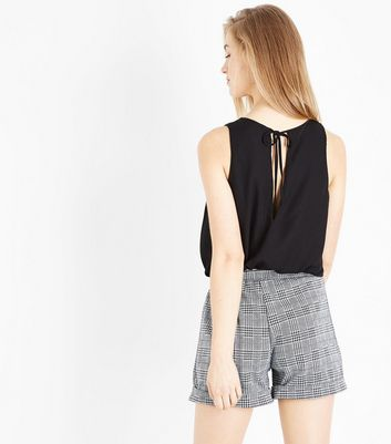 Cameo Rose Black Check 2 in 1 Playsuit New Look