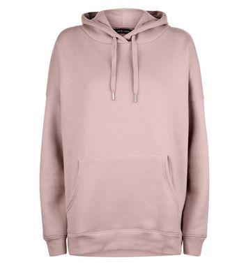 Pale Pink Oversized Hoodie New Look