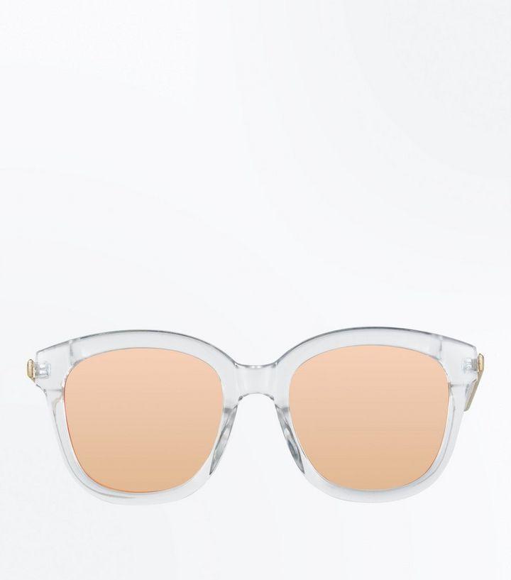 4d79b7b0343e ... Clear Frame Mirror Lens Sunglasses. ×. ×. ×. Shop the look
