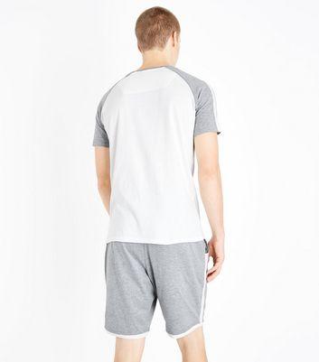 White Contrast Pyjama Set New Look