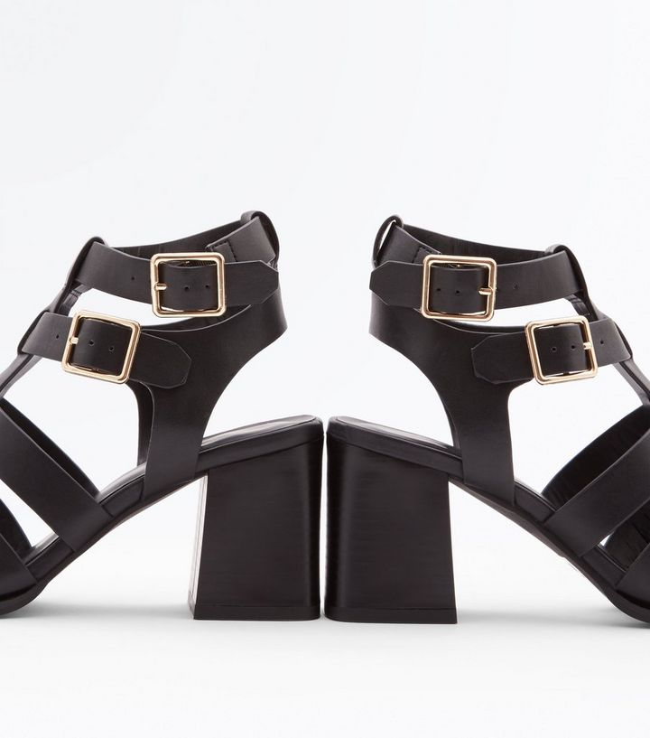 9a17ce9e3 ... Black Stud Trim Block Heel Gladiator Sandals. ×. ×. ×. Shop the look