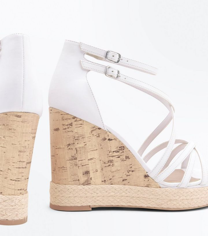 9aa673709ab White Strappy Platform Espadrille Wedges Add to Saved Items Remove from  Saved Items