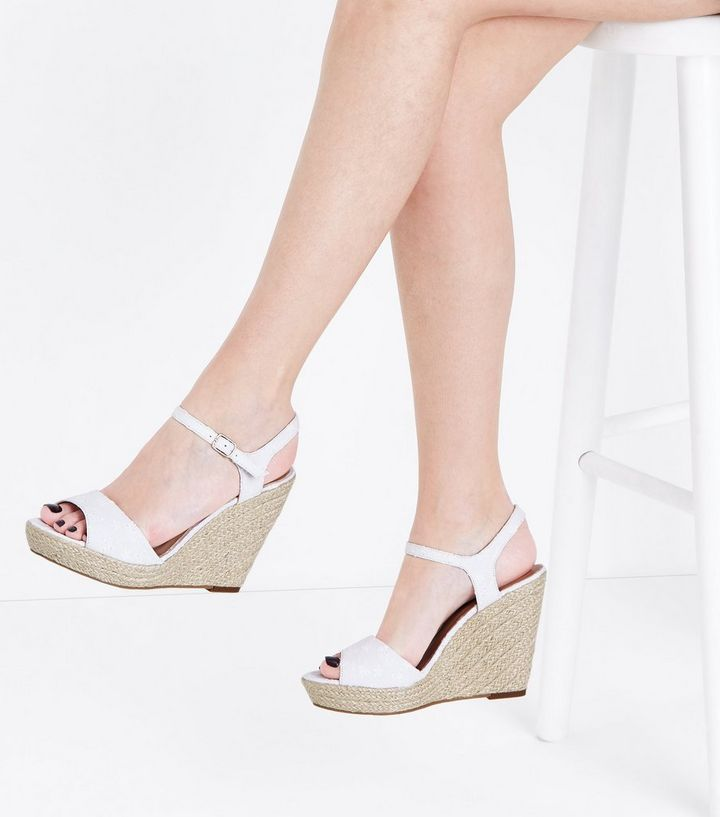 93efa64b65b White Broderie Espadrille Wedges Add to Saved Items Remove from Saved Items