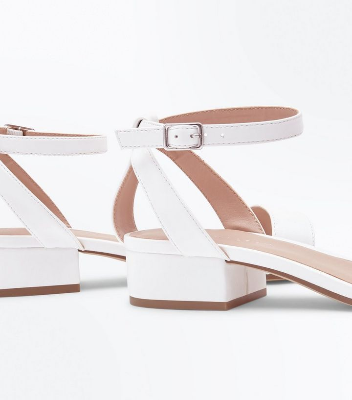 611917cb648 ... White Low Block Heel Two Part Sandals. ×. ×. ×. Shop the look