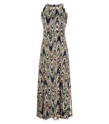 Mela Green Marbled Print Maxi Dress New Look