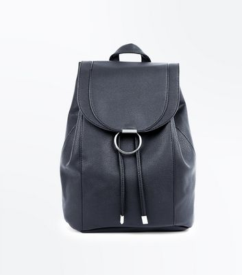 Black Ring Front Backpack