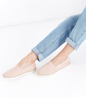Wide Fit Nude Canvas Espadrilles New Look