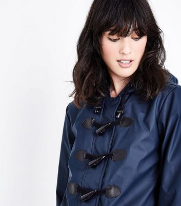 Navy Toggle Front Anorak New Look
