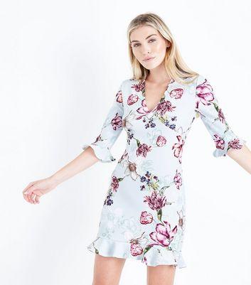 Pink Vanilla Mint Green Floral Print Dress New Look