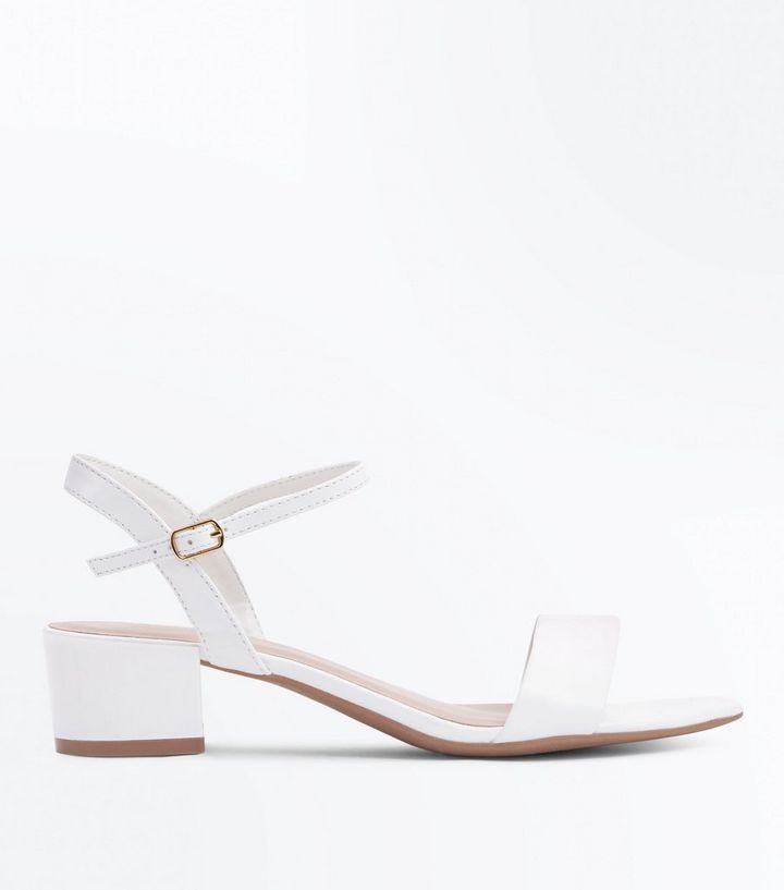 100% original autumn shoes elegant in style Wide Fit White Low Heel Sandals Add to Saved Items Remove from Saved Items