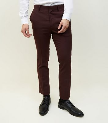 Burgundy Skinny Trousers
