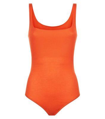 Pink Vanilla Orange Ribbed Bodysuit New Look
