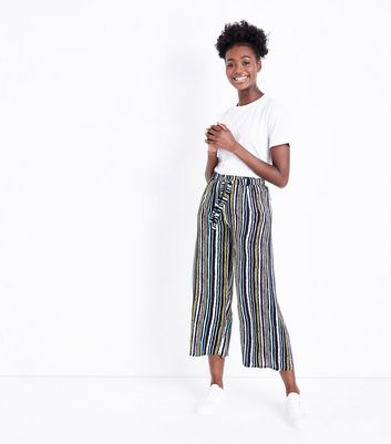 Mela Blue Stripe Wide Leg Trousers