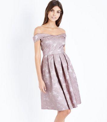 Mela Rose Gold Floral Embossed Prom Dress New Look