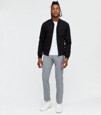 Dark Grey Slim Fit Trousers