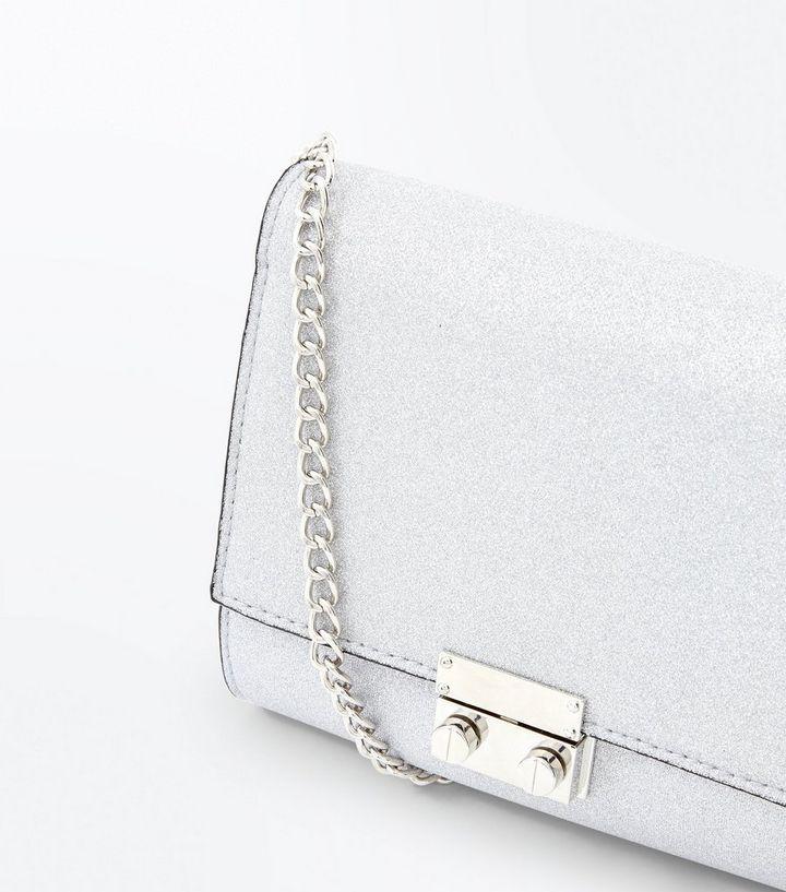 silver glitter chain shoulder bag buy popular 1a3e9 f6487 ... 8ae472b9f26c8