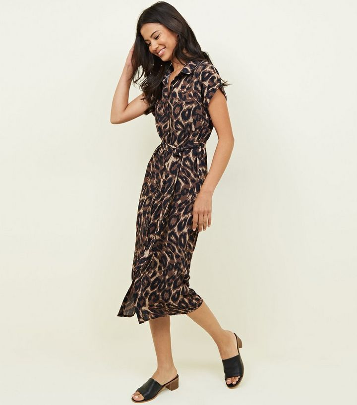 32a94b7f034 ... Black Animal Print Midi Shirt Dress. ×. ×. ×. Shop the look
