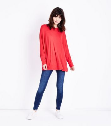 QED Red Batwing Top New Look
