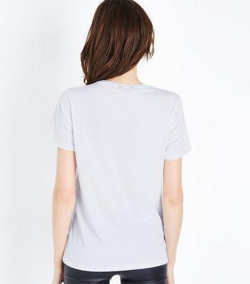 White Belle Slogan T-Shirt New Look