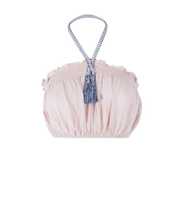 effff3490da95 ... Pale Pink Tassel Halterneck Bandeau Crop Top. ×. ×. ×. Shop the look