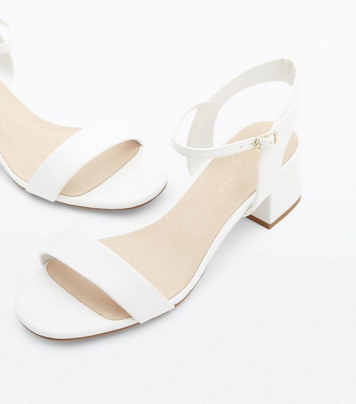 9ace6248cf3f ... Wide Fit White Comfort Flex Block Heel Sandals. ×. ×. ×. Shop the look
