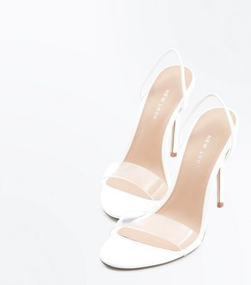 Clear Strap Slingback Stiletto Heels