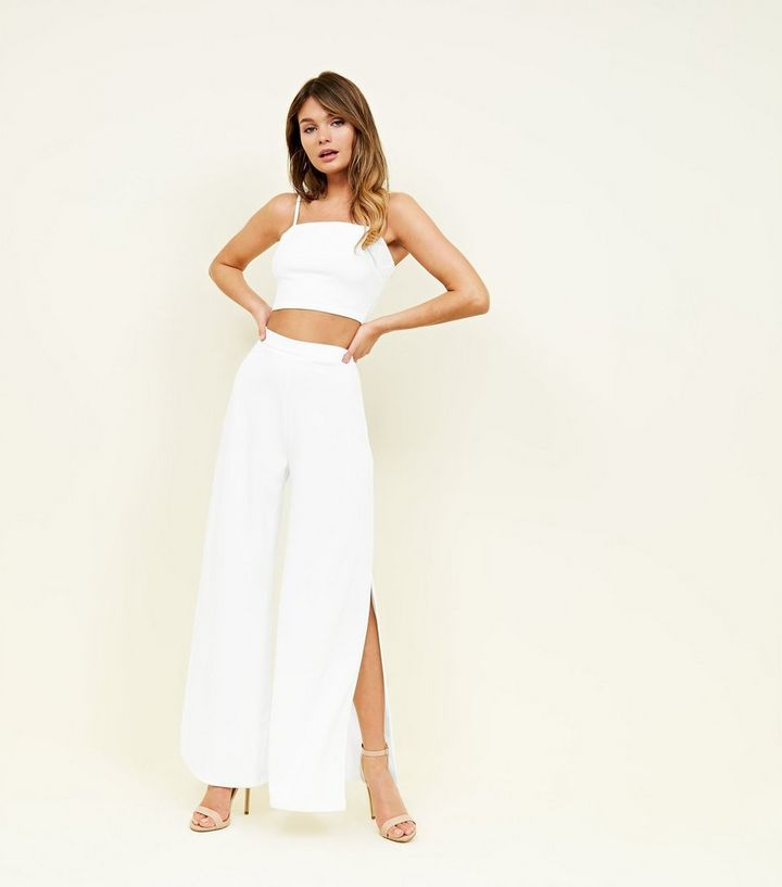 dernières tendances de 2019 50-70% de réduction bonne vente Pantalon large blanc en néoprène taille haute Ajouter à la Wishlist  Supprimer de la Wishlist