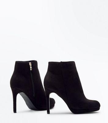 Wide Fit Black Suedette Stiletto Heel