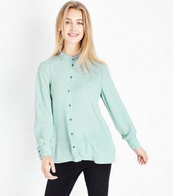 JDY Mint Green Collarless Shirt New Look