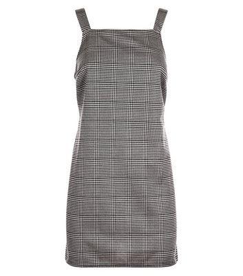 Petite Brown Check Print Pinafore Dress New Look