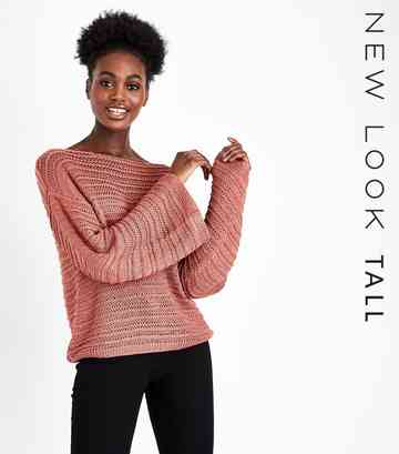 Tall Coral Flare Sleeve Knit Jumper