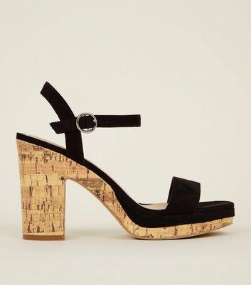 cork heel platform sandals