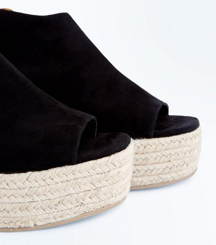 5e953c7f07e ... Black Suedette Peep Toe Flatform Espadrilles. ×. ×. ×. Shop the look