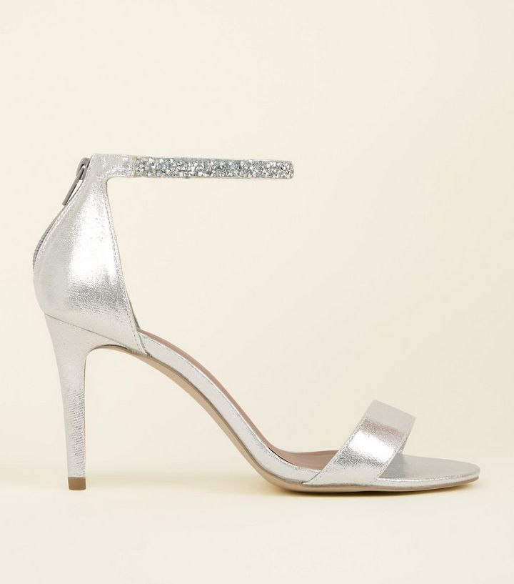 Silver Wedding Shoes.Wide Fit Silver Crystal Strap Wedding Sandals Add To Saved Items Remove From Saved Items