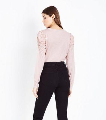 JDY Pink Puff Sleeve Top New Look