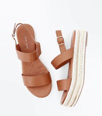 Gem Embellished Flatform Sandals