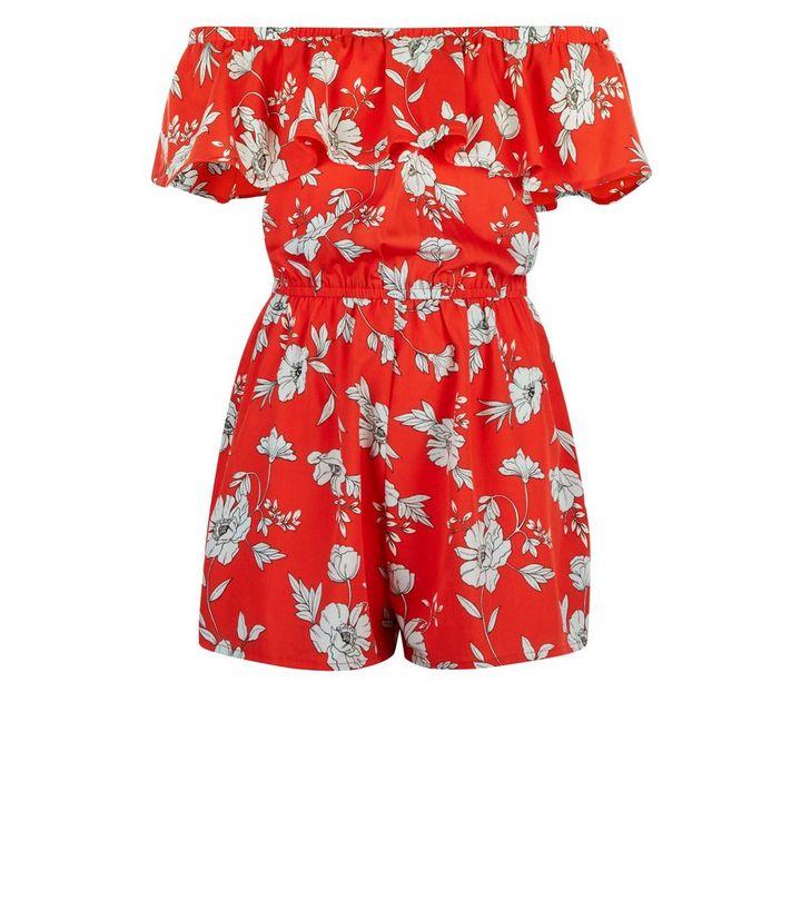 best loved performance sportswear coupon code Girls - Combishort rouge fleuri à volants Ajouter à la Wishlist Supprimer  de la Wishlist