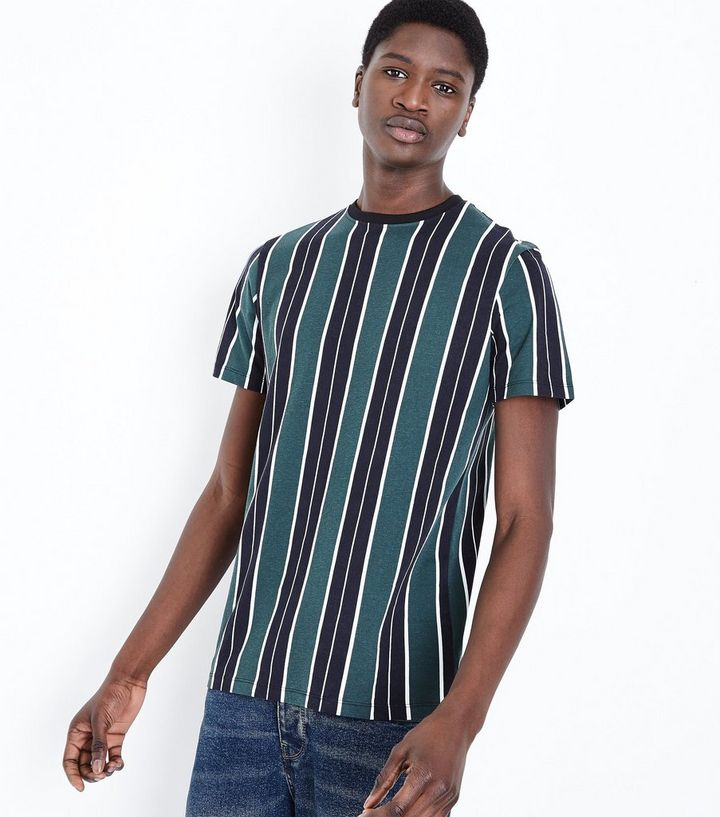 149ca22999 Dark Green Vertical Stripe T-Shirt | New Look
