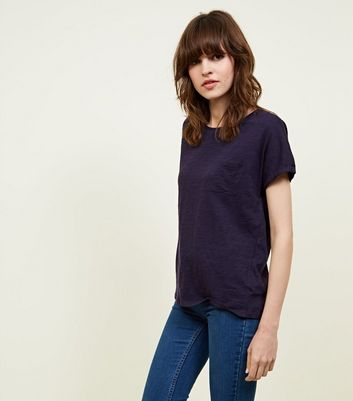 Tall Navy Organic Cotton Pocket Front T-Shirt