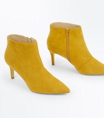 Wide Fit Mustard Suedette Stiletto
