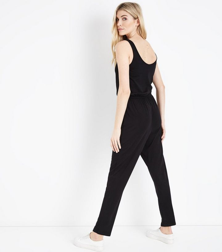 ba534ae6eee ... Black Jersey Sleeveless Jumpsuit. ×. ×. ×. Shop the look