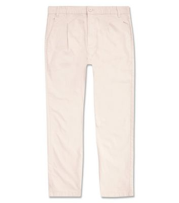 Stone Pleated Front Trousers New Look