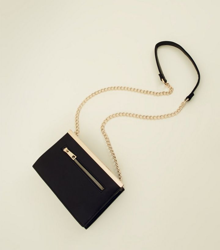 1db3910214f ... Black Zip Front Chain Cross Body Bag. ×. ×. ×. Shop the look