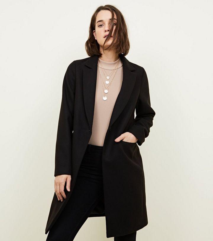 meilleur service 8694a 5fd30 Manteau noir habillé à coupe droite Ajouter à la Wishlist Supprimer de la  Wishlist