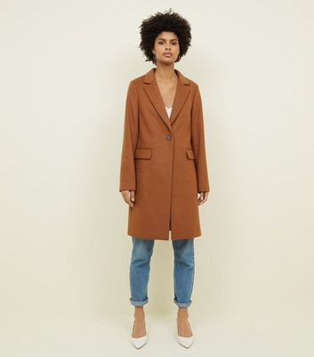 Tan Single Breasted Formal Coat