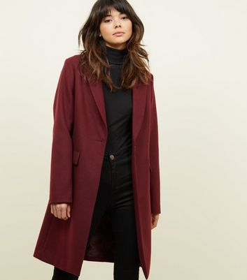 Burgundy Single Breasted Formal Coat