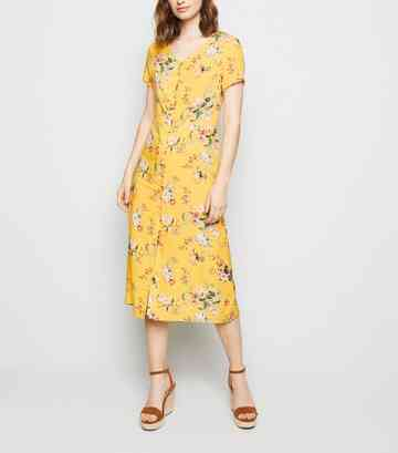19a4a0d5bf7fc Women's Yellow Dresses | Mustard & Gold Dresses | New Look