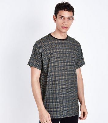 Brown Tile Check T-Shirt
