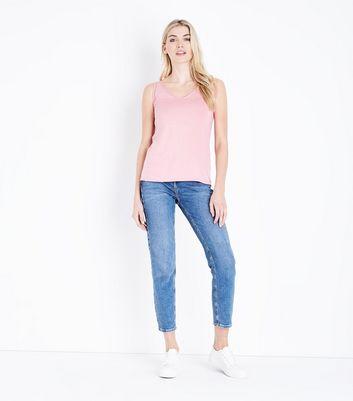 Pink V Neck Vest New Look