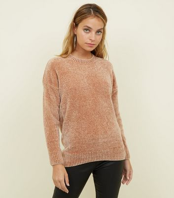 Petite - Pull camel en maille chenille